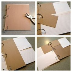 Explanation of how to make a simple travel journal