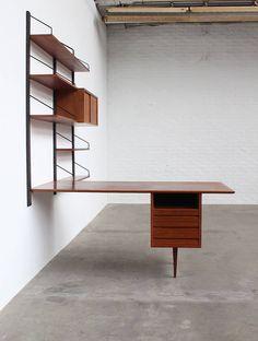 poul cadovius desk wall unit