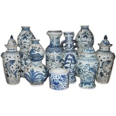 Early 20th c. Assortment of Large Chinese Blue & White Ceramics 1