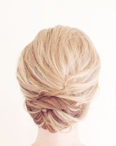 Textured elegant hair up-do for brides   bridesmaids   special occasions