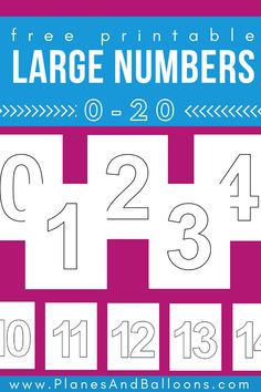 Large printable numbers for simple number activities,Large printable numbers Fun free printable for kids learning math, fine motor skills and number sense. Learning Numbers Preschool, Teaching Numbers, Math Numbers, Preschool Printables, Preschool Worksheets, Math Activities, Kids Learning, Numbers Kindergarten, Kids Math