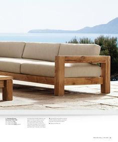 Restoration Hardware Source Book (Outdoor) is part of Teak patio furniture - Outdoor Couch, Diy Outdoor Furniture, Deck Furniture, Pallet Furniture, Furniture Plans, Furniture Design, Antique Furniture, Furniture Cleaning, Furniture Dolly