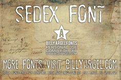 New free font 'SEDEX PERSONAL USE' by Billy Argel · Free for personal use · #freefont #font #freefont