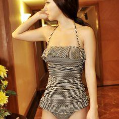 2013 Hot Swimwear Bikini One Piece Striped and nautical Swimsuit For Women underwire monokini swimsuit cute tankinis for juniors