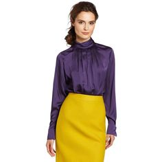 Jones New York Women's Back Button Detail High Neck Blouse and other apparel, accessories and trends. Browse and shop related looks.