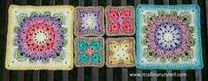 Crochet Mandala, Crochet Motif, Crochet Stitches, Crochet Blocks, Crochet Squares, Granny Squares, Crochet Bedspread, Crocheted Afghans, Knitting Patterns