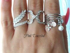 Pave CZ X Cross Stitch Ring