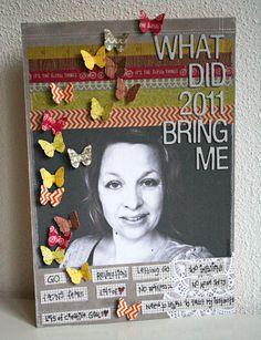 PP strips, journaling strips, and butterflies! Revlie #scrapbook