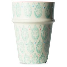 Fairies and Flowers Aqua Leaf Tumblers