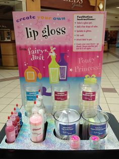 The perfect party add on for your little princess! Create your own lip gloss! $5.95 per party guest!