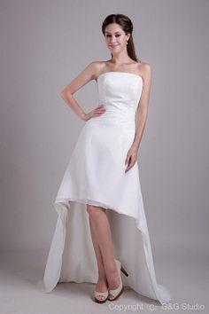Strapless White Chiffon Cocktail Gowns sfp1265 - http://www.shopforparty.com/strapless-white-chiffon-cocktail-gowns-sfp1265.html - COLOR: White; SILHOUETTE: A-Line; NECKLINE: Strapless; EMBELLISHMENTS: Beading; FABRIC: Chiffon - 187USD