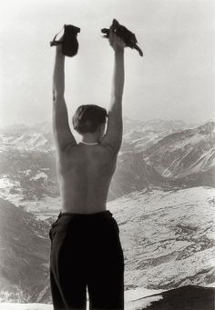 """less-ismore: """"Charlotte Perriand in Savoie, France, 1930. """""""