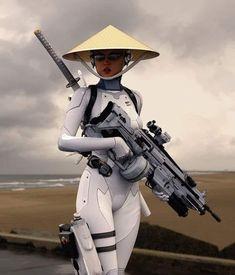 Cyberpunk Girl, Cyberpunk Character, Cyberpunk Fashion, Character Concept, Character Art, Otaku, Bd Comics, Military Women, Armor Concept
