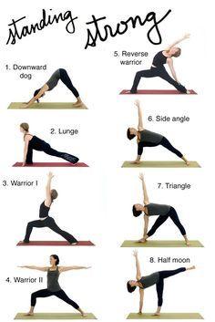 Fitness Herausforderungen, Fitness Motivation, Health Fitness, Yoga Beginners, Yoga Routine, Brain Yoga, Standing Yoga Poses, Yoga Sequences, Yoga Flow