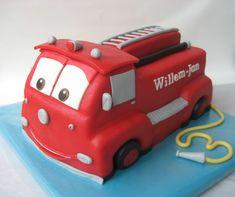 Cars Firetruck cake — Children's Birthday Cakes