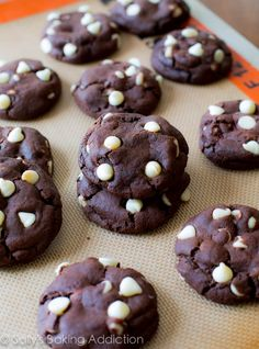 Super thick, super fudgy, super soft Chocolate White Chocolate Chip Cookies. AKA Inside Out Cookies!