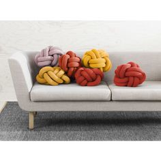 Design House Stockholm Knot Sierkussen Ø 30 cm Ligne Roset, Design House Stockholm, Knot Cushion, Danish Design Store, Chesterfield Chair, Knots, Love Seat, Accent Chairs, Cushions