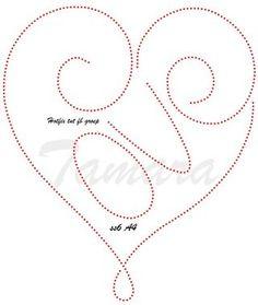 [Fadengrafik] LOVE - Herz-Karte - Eure Karten - Elas Bastelecke