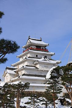 Tsuruga castle - Aizu-Wakamatsu Castle, also known as Tsuruga Castle is a concrete replica of a traditional Japanese castle in northern Japan, at the center of the city of Aizuwakamatsu, in Fukushima Prefecture.