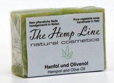 Hanf-Seife aus Hanföl und Olivenöl - The Hemp Line - natural cosmetics #hanf #hemp #eco #bio #organic