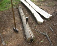 Splitting Logs For Woodworking Lumber - http://www.ecosnippets.com/diy/splitting-logs-for-woodworking-lumber/