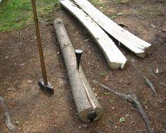 Splitting Logs For Woodworking Lumber - http://www.ecosnippets.com/diy/splitting-logs-for-woodworking-lumber/