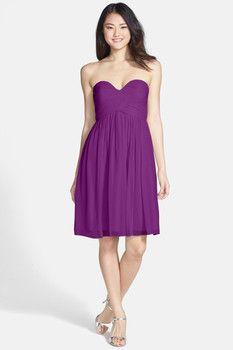 Donna Morgan 'Morgan' Strapless Silk Chiffon Dress