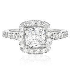 My Ring-- and I LOVE it!!  Square Cushion-Cut Diamond Engagement Ring  check it out at www.colejewelry.com
