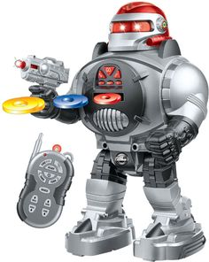Remote Control Robot For Kids - RoboShooter Robot Toy For Boys & Girls Aged 5+ by ThinkGizmos