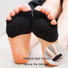 LOHOME Toe Socks, Cotton Non-Slip Women's Toe Toppers Socks Toe Separating Socks No-Show Half Socks Barre Pilates Yoga Half Palm Socks Ballet Grip Sock for Summer Black) >>> More info could be found at the image url. (This is an affiliate link) Grip Socks, Toe Socks, Half Socks, Yoga Shoes, Invisible Socks, Ballet, No Show Socks, Yoga Fashion, Black Shoes