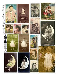 **FREE ViNTaGE DiGiTaL STaMPS**: Free Printable - Digital Collage Sheet