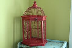 Red Moroccan Bird Cage