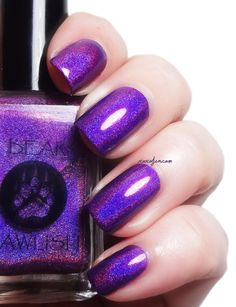 Bear Pawlish Holo Back GIrl the mercurial magpie: Nail Blogger Favorite Polishes & Posts of 2014
