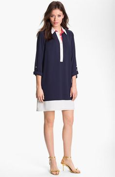 Adrianna Papell Colorblock Shirtdress available at #Nordstrom