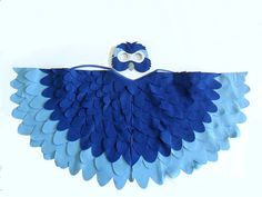 Children Bird Costume, Blue Arara Parrot Wings and Mask  Kid Dress up Toy , Rio,  Girls and Boys, Toddlers. €60.00, via Etsy.