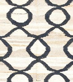 "(detail) Smaller Rug! 5' x 3'3"" Flat weave rug; 100% organic wool; Pera natural with slate-grey pattern $458. #DH214 natural variations in the wool create the abrash."