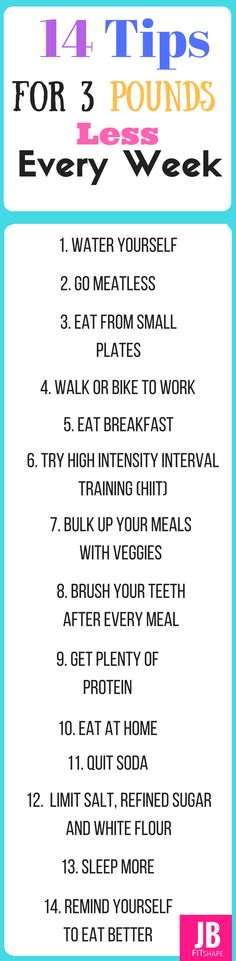 14 Weight Loss Tips For 3 Pounds Less Every Week. Follow them all and see results.