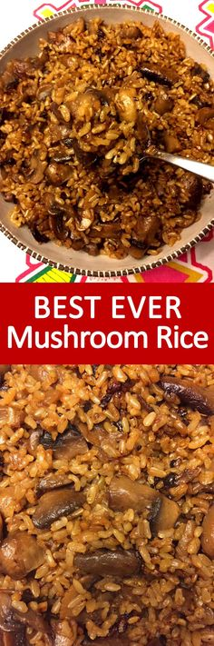 I love mushroom rice! This recipe makes the best mushroom rice ever with white or brown rice! So easy to make and so yummy!