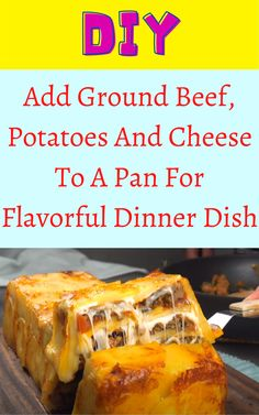 Add Ground Beef, Potatoes And Cheese To A Pan For Flavorful Dinner Dish Diy Crafts For Home Decor, Diy Arts And Crafts, Hacks Diy, Food Hacks, How To Make Cheese, Food To Make, Corn Hole Plans, Ground Beef And Potatoes, Evening Meals