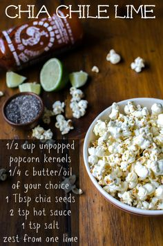 Chia Chile Lime Popcorn | Bob's Red Mill