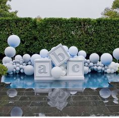 5 clever ideas to prepare the nursery. Baby Shower Decorations For Boys, Boy Baby Shower Themes, Baby Shower Balloons, Baby Shower Fun, Baby Shower Gender Reveal, Shower Party, Baby Shower Parties, Fotos Baby Shower, Teddy Bear Baby Shower