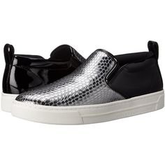 Marc by Marc Jacobs Women's Broome Embossed Metallic Cobra Skate... ($155) ❤ liked on Polyvore featuring shoes and sneakers