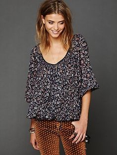 FP One Printed Blouse <3 Fashion Style