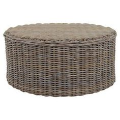 Sidney Rattan Coffee Table