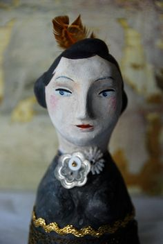 Dolly - 41/2 Palm-sized Bust - Doll. $95.00, via Etsy.