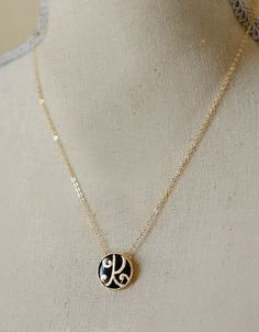 Monogram Pendant Necklace, Spring 2013 Fashion, Cheap Trendy Jewelry, Always Free Shipping — Cents Of Style. This would make a cute gift. Could get both initials and wear one shorter than the other.