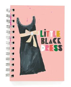 "JOURNALS :: 5x7"" Journals :: Little Black Dress 5x7"" Journal - Ecojot - eco savvy paper products"
