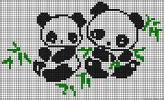панды рисунки по клеточкам