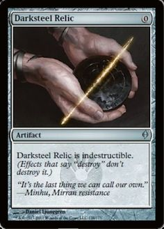 Darksteel Relic mtg Magic the Gathering New Phyrexia uncommon artifact card