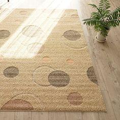 洗える 抗菌 ラグ カーペット かわいい 水玉 模様 ( 190X240 cm ベージュ ) 日本製 ホットカーペット 床暖房対応